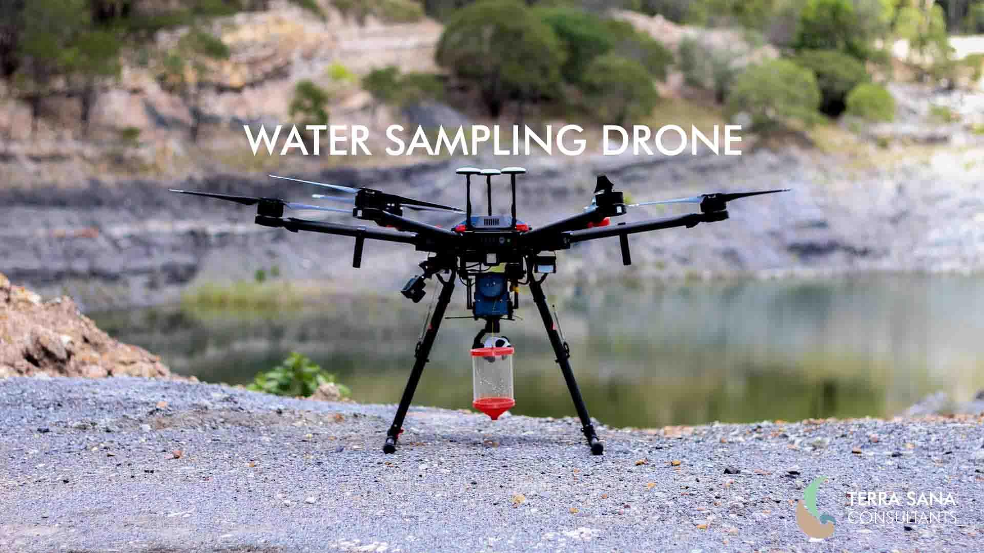 Water sampling drone